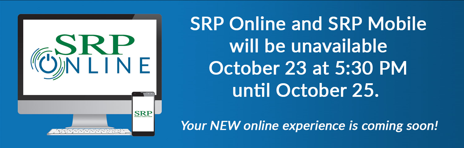 Banner - SRP Online Down Times | Home