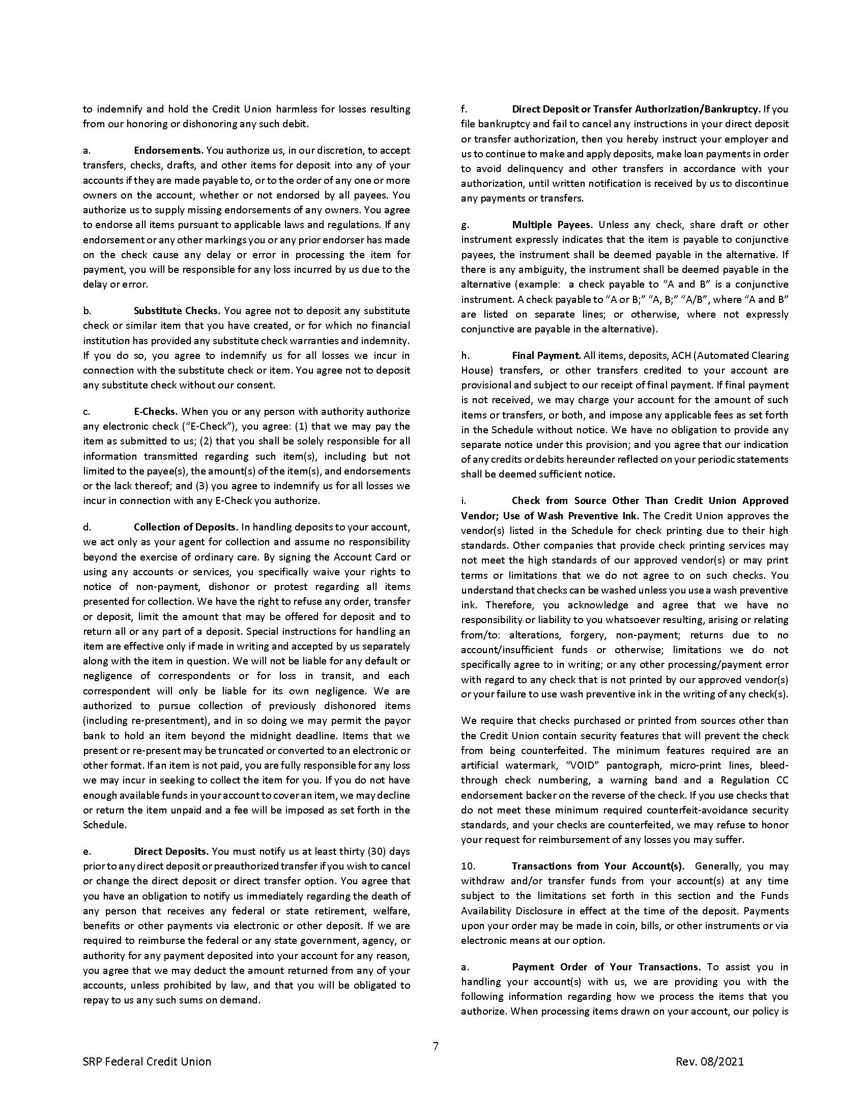 Membership Agreement7 | Membership Agreement
