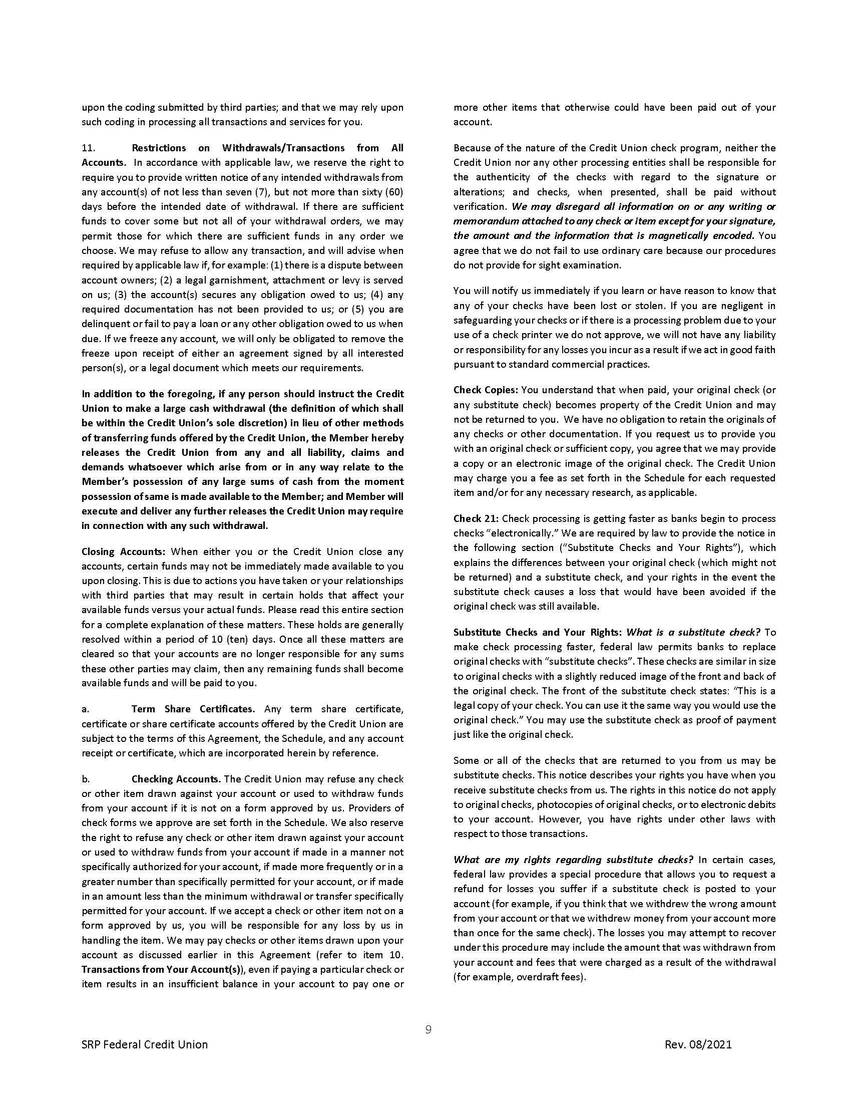 Membership Agreement9 | Membership Agreement