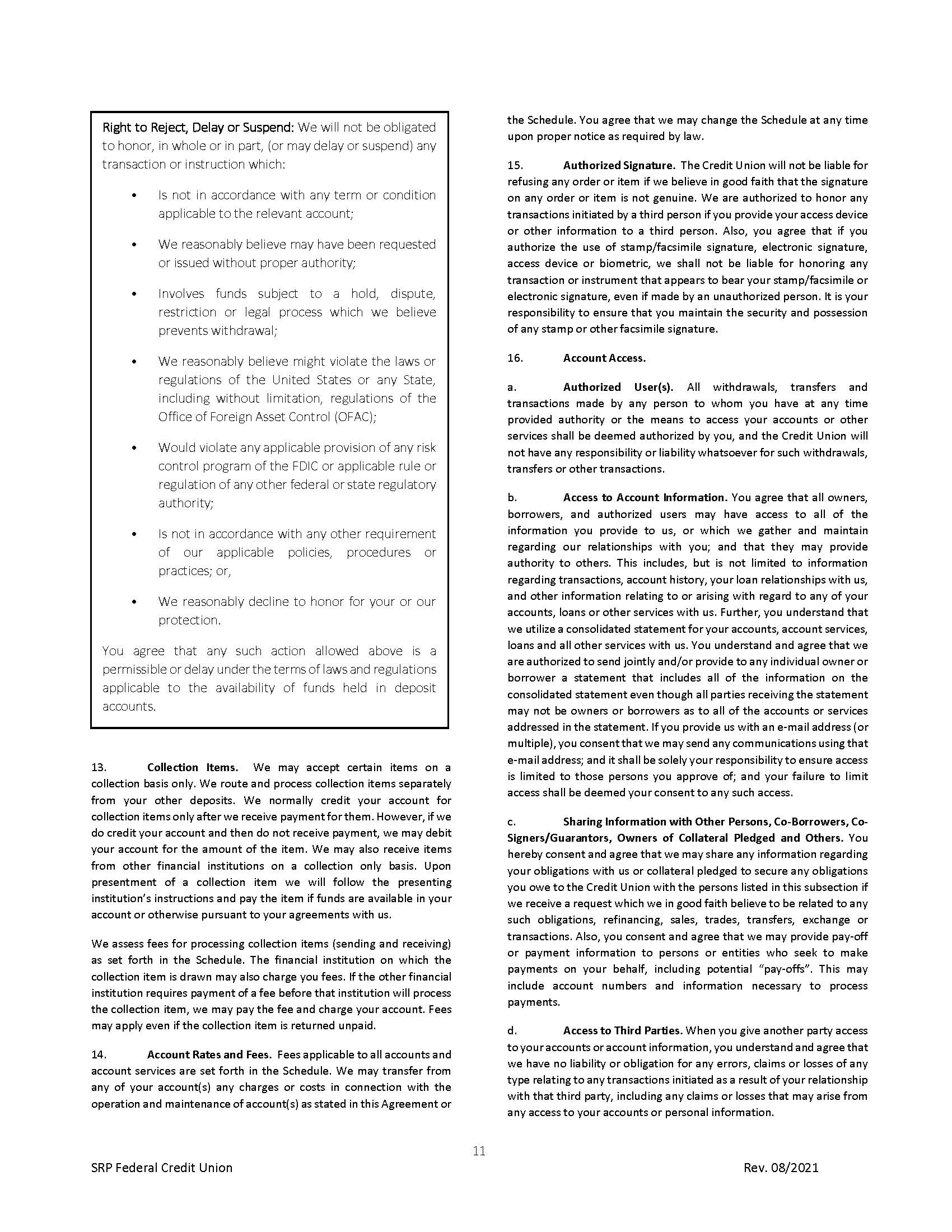 Membership Agreement11 | Membership Agreement
