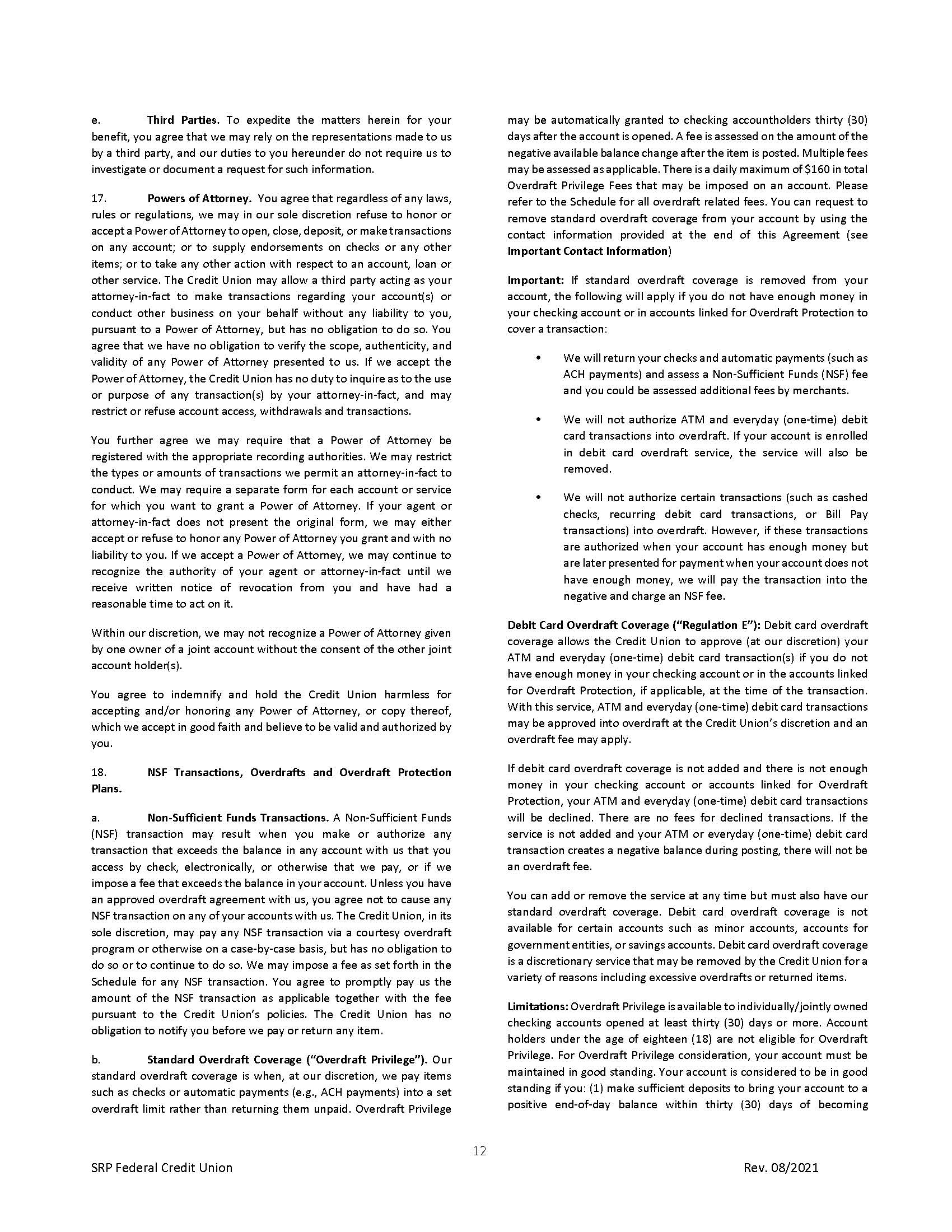 Membership Agreement12 | Membership Agreement
