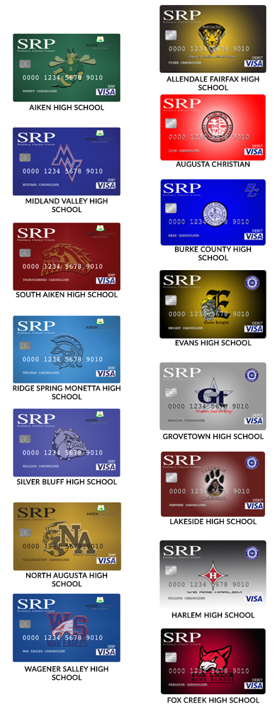 Affinity Cards - page image | High School Affinity Debit Cards