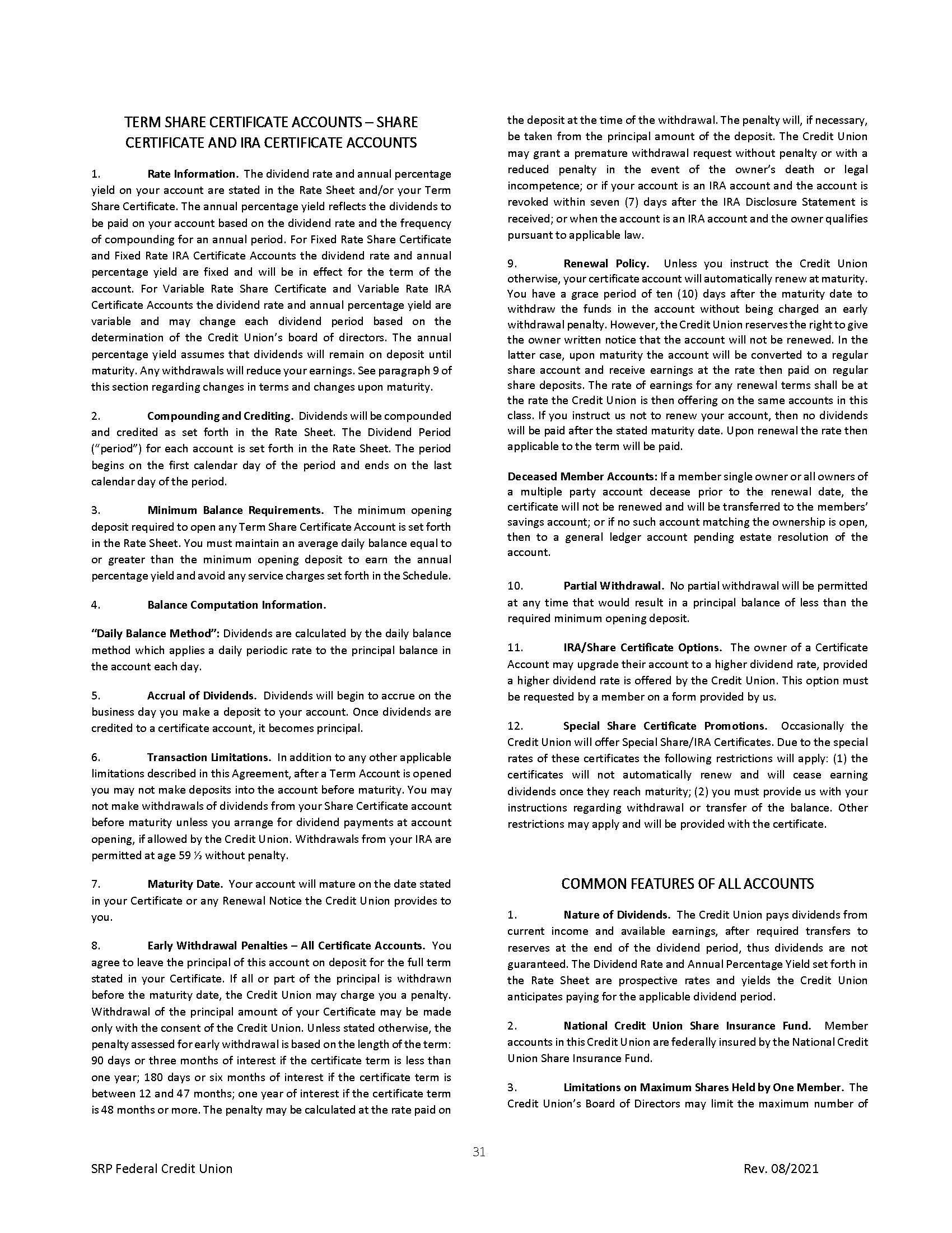 Membership Agreement31 | Membership Agreement