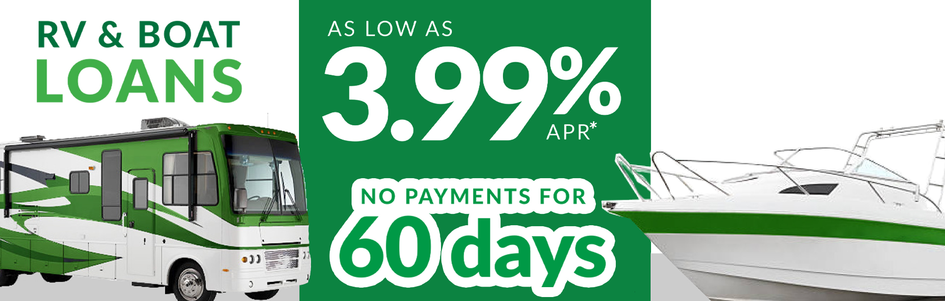 Banner - RV and Boat Loan Promo | Home