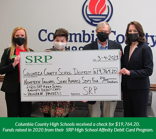 Affinity Card - Columbia County Check Presentation | High School Affinity Debit Cards